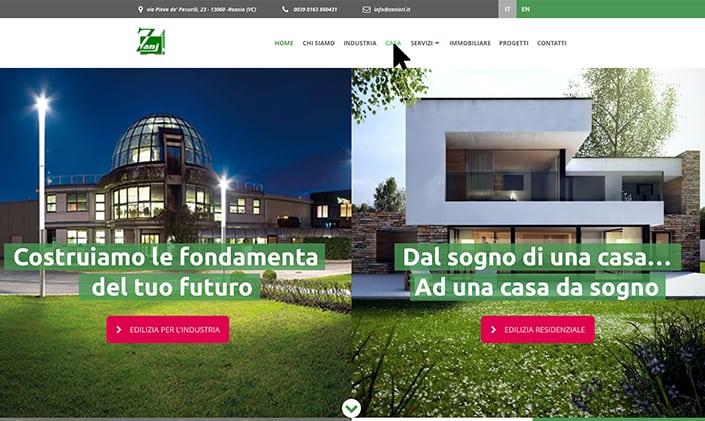 Zani costruzioni Roasio sito web nuovo