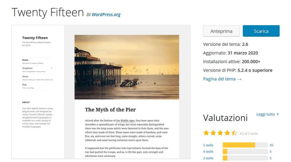 personalizzare tema wordpress